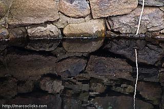 Pond and wall, Wood's Hole